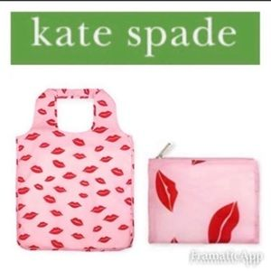 🆕♠️KATE SPADE LIPS💋REUSABLE SHOPPING TOTE